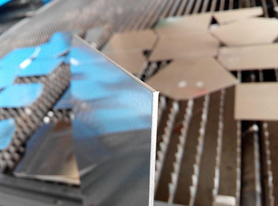 铝板激光切割表面
