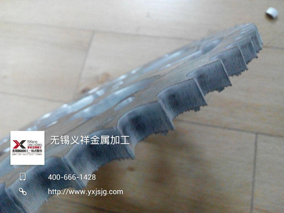 7075航空铝10mm齿轮激光切割加工